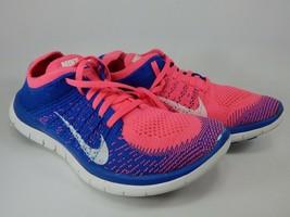 Nike Free Flyknit 4.0 Misura 8 M (B) Eu 39 Scarpe da Corsa Donna Blu 631050-600