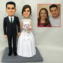 handmade clay figurines wedding cake topper Custom Figurine wedding cake... - $148.00