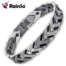 Rainso Healthy Hematite Bracelets & Bangles Men Bio Energy Bracelet Blac... - $30.56