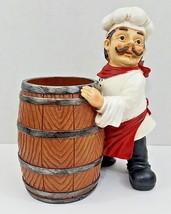 """Kirkland's Chef Utensil Holder Barrel - 11"""" Tall x 8"""" x 5 1/2"""" Base - Resin - $25.23"""