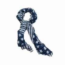 NAVY VOGUE SCARF - $22.00