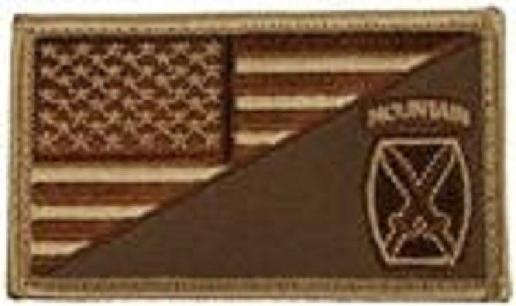 Primary image for ARMY 10TH MOUNTAIN DIVISION DESERT FLAG 2 X 3  EMBROIDERED PATCH WITH HOOK LOOP