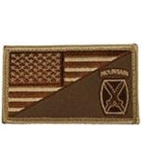 ARMY 10TH MOUNTAIN DIVISION DESERT FLAG 2 X 3  EMBROIDERED PATCH WITH HO... - $23.74