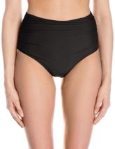 Betsey Johnson Womens Swimwear Malibu Solids High Waist Bikini Bottom, Black, M - $79.20