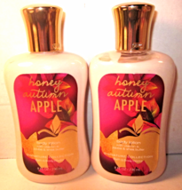 2 Bath & Body Works 8 oz Body Lotion Honey Autumn Apple - $39.99