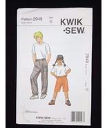 Kwik Sew Sewing Pattern Boys & Girls Shorts & Pants #2949 Sizes  4 5 6 7 - $6.95