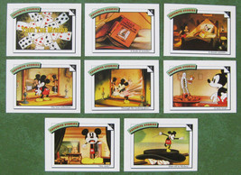 Lot - 8 Mickey Mouse Thru the Mirror Disney Favorite Stories Impel Tradi... - $1.50