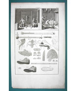 1776 DIDEROT PRINT - Shoe & Boot Maker View of Shop Patterns Stitches - $21.60