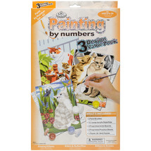"""Junior Small Paint By Number Kit 8.75""""X11.75"""" 3/Pkg-Cats - $18.92"""