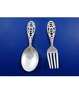 Sterling Silver Baby Set of Fork & Spoon with Cut-out Design on Handle (... - $69.00