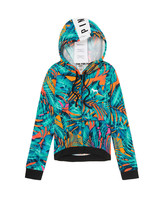 Victoria's Secret PINK Logo Palm Neon Tropical High Low Full Zip Hoodie ... - $48.85