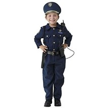 Deluxe Police Officer Dress Up Costume Set Small 4-6 Kids Toddler Cop Ma... - $48.51