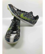 Nike Zoom Rival D Womens Track Shoes Green Black Lace-Up 616309-170 Spik... - $12.99