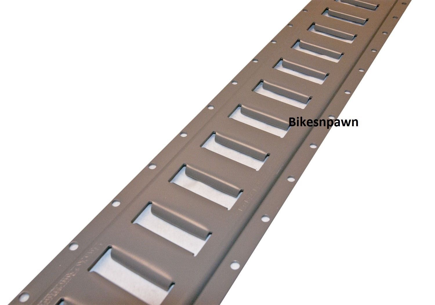 New Heavy Duty Powder Coated 2' Long E Track 4 Pack Gun Metal Grey Buyers Brand
