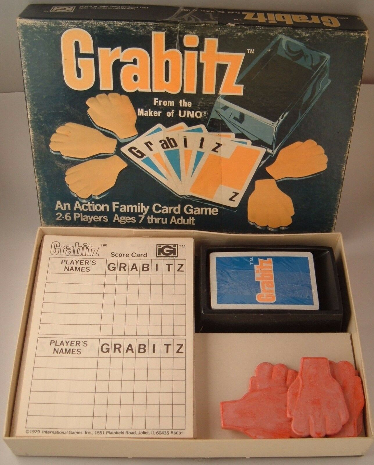 Primary image for Vintage 1979 Grabitz Action Family Card Game Unused cards still in plastic