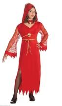 FORUM DEVILISH DIVA HOODED DRESS CHILD HALLOWEEN COSTUME LARGE 67877 - $10.29