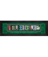 Eastern Michigan Eagles Officially Licensed Framed Campus Letter Art - $39.95