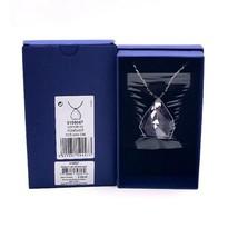Authentic Swarovski Allure Crystal and Amethyst Gemstone Long Pendant - $279.57