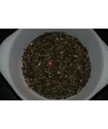 Raspberry green tea loose leaf 30 count  bag fresh - $17.00