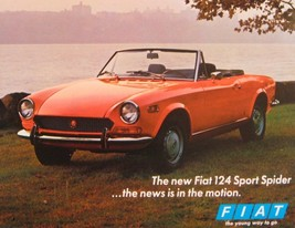 1970 Fiat 124 Sport Spider Brochure Sheet, Original 70 - $12.30