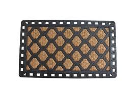 Rubber Coir Link Pattern Welcome Door Mat - $25.82