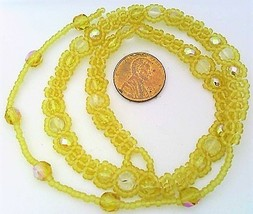 Yellow Citrine Beaded Daisy Chain Necklace - $16.99