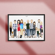 Custom extended family print, personalized family group portrait - $90.00