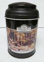 "AHMAD TEA LONDON Canister Tin Storage EARL GRAY ""THE PICNIC"" Empty 5.5"" ... - $27.83"