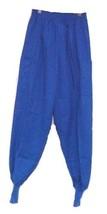 Scrub Pants XS Royal Blue Cargo Crest Uniforms Elastic Waist Knit Cuff 131 New - $19.57