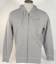 Oakley Signature Gray Zip Front Hooded Jacket Sweatshirt Hoodie Mens NWT - $52.49