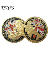 Metal Coins BRITISH INFANTRY Coins Gold Plated 6.6.1944 D.Day Gold Plate... - $5.50