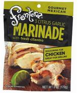 Frontera Marinade, Three Citrus Garlic 6 oz ea, powder, case of 6, Mexican - $21.99