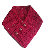 Cotton scarf in raspberry pink, Ascot style neck warmer, gift for her, b... - $22.00