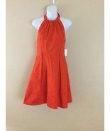 NEW Women JESSICA SIMPSON Unlined RED POINCIANA RACER FRONT  HALTER DRES... - $38.61