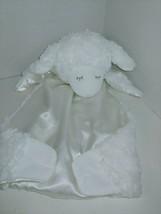Baby Gund white Winky lamb Huggybuddy security blanket Satin back 058928... - $8.90