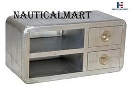 NauticalMart Casa Padrino Luxury Designer Aluminum TV Dresser 2 Drawer Furniture - $1,299.00
