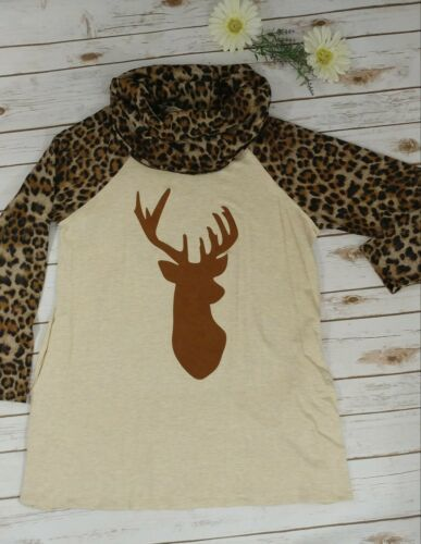 Leopard Print Deer Tunic With Pockets