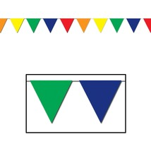 30 ft heavy duty Outdoor All Weather multi color Pennant Banner flags de... - $9.89