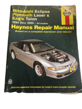 Mitsubishi Eclipse Plymouth Laser Eagle Talon 1990-1994 Haynes Repair Ma... - $16.75