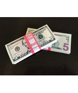 500 PROP MONEY REPLICA 5s All Full Print For Movie Video Films etc. - $22.99