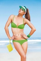 PRINCESSE TAM TAM Bandeau BIKINI Swimwear SET Lime GREEN 2-Piece S $215 - $99.97
