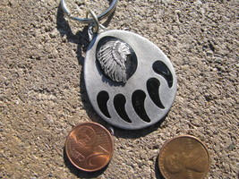 VTG Keychain Keyring FOB Pewter Licensed INDIAN CHIEF 1996 GREAT SPIRIT ... - $29.68