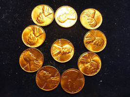 1960-1969 SET OF THE BEST ON HAND......10 NICE LINCOLNS - $2.96
