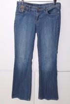 W11452 Womens Citizens Of Humanity Blue Denim Low Waist Flare Leg J EAN S 29 - $19.25