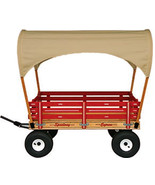 "LARGE ""SUN TOP"" COVERED AMISH WAGON 48"" w/ 6½ Wide Off Road Tires * 4 Co... - $596.18"