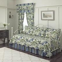 "WAVERLY Floral Flourish Daybed Set, 105""x54"", Porcelain - $79.55"