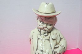 "Vintage Alberta Molds White Ceramic Decanter Kentucky Gentleman 11.5"" Tall - $21.00"