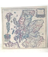 Print of Antique Ric Blome Map of Scotland 16x15 R Palmer Sculy Unframed... - $19.95