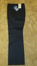 Dickies Girl's School Uniform Flat Front Wide Band Navy Sz 13 Jr 35.5 x ... - $14.80