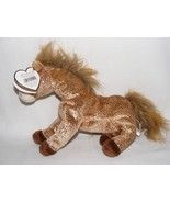 Ty 10 yr. Anniversary Filly Horse Gold Flecks Mint With Tags Beanie Baby - $7.75